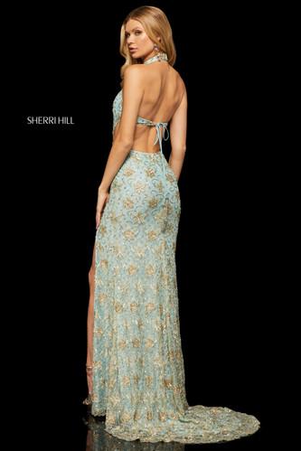 35cfe6f3e2db Sherri Hill 52683 Light Blue/Gold