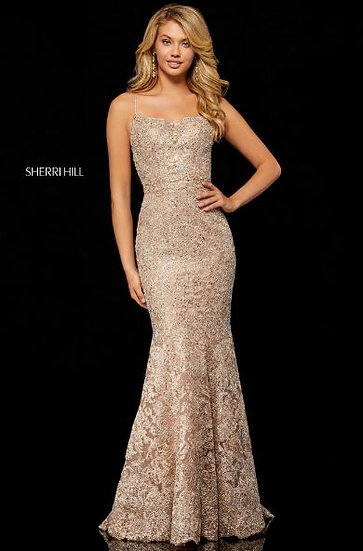 Sherri Hill 52348 Rose Gold/Silver