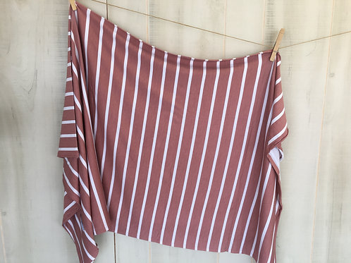 Posh Peanut Blush Rose Stripe Infant Swaddle