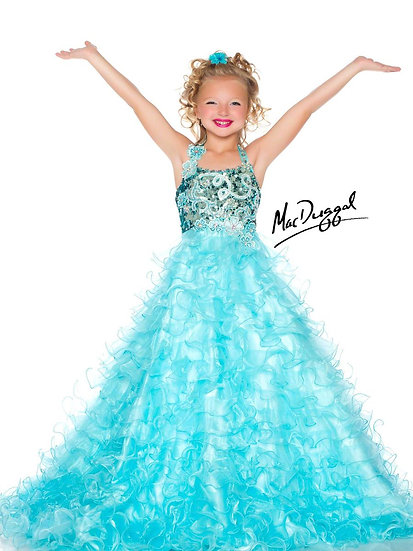 Mac Duggal 42618S Ice Blue