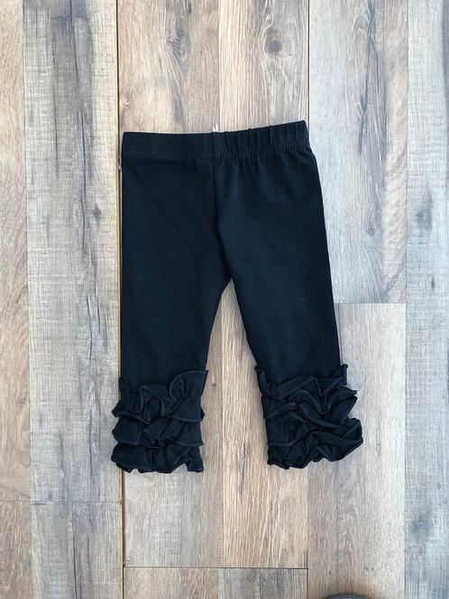 Evie's Closet Ruffle Leggings Black