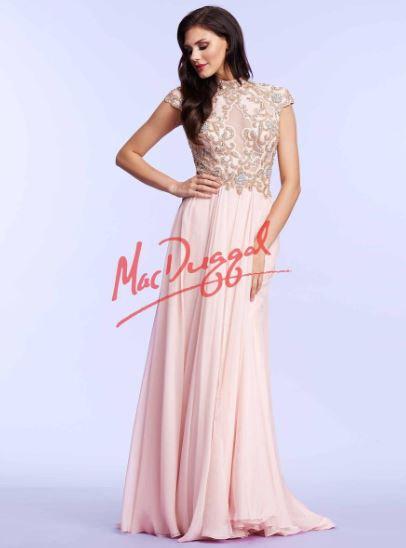Mac Duggal 10037 Blush