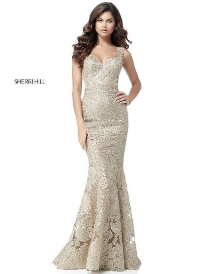 Sherri Hill 51571 Gold