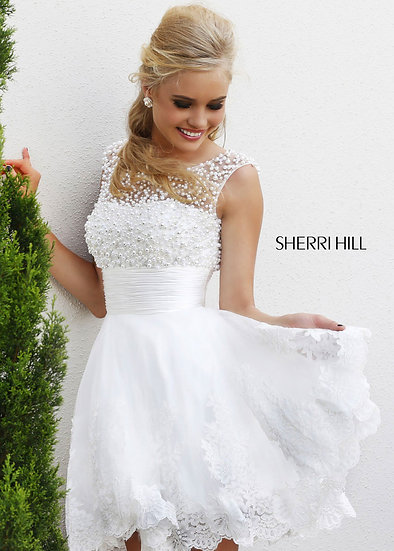 Sherri Hill 4302 White