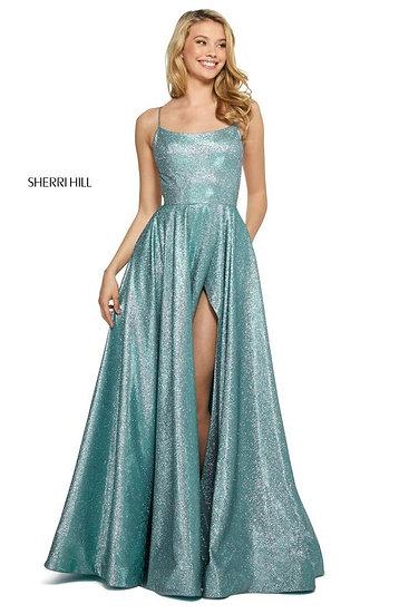 Sherri Hill 53118 Aqua/Silver