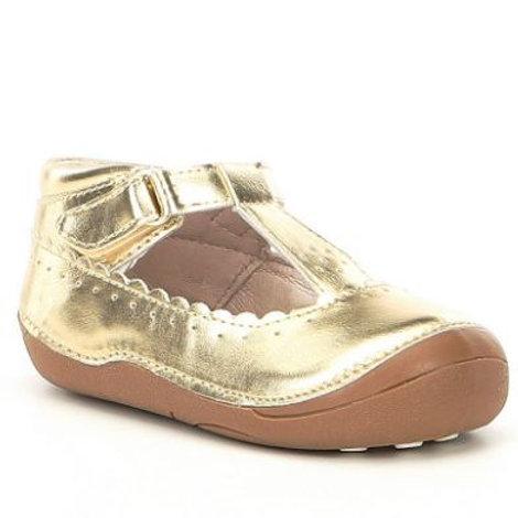 Sole Play Gavina Gold T-Strap Shoe