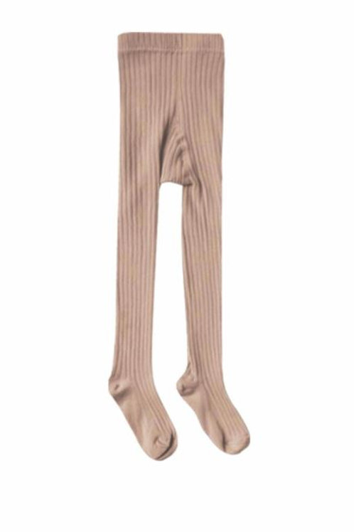 Rylee + Cru Solid Ribbed Tights Truffle