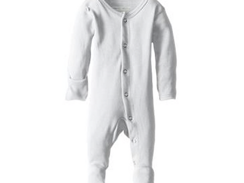 L'oved Baby Organic Footed Overall White