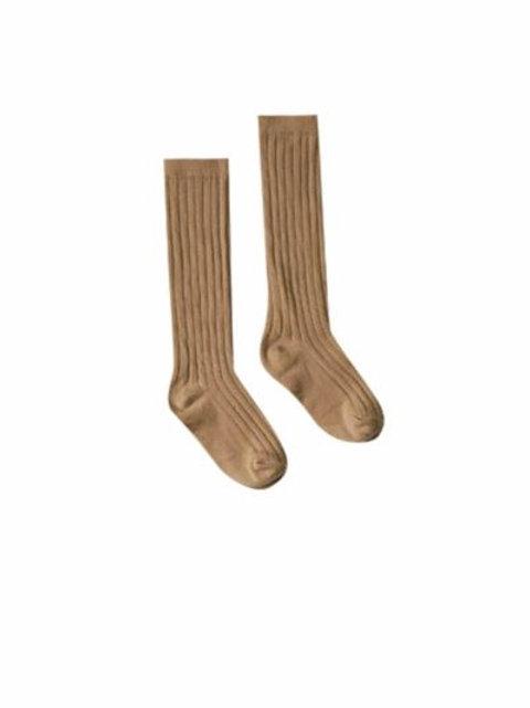 Rylee + Cru Solid Knee Socks Caramel