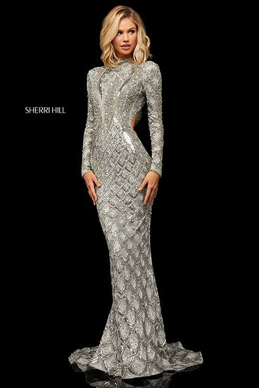 Sherri Hill 52916 Silver