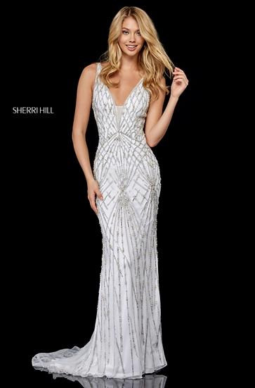 Sherri Hill 52324 Ivory/Silver