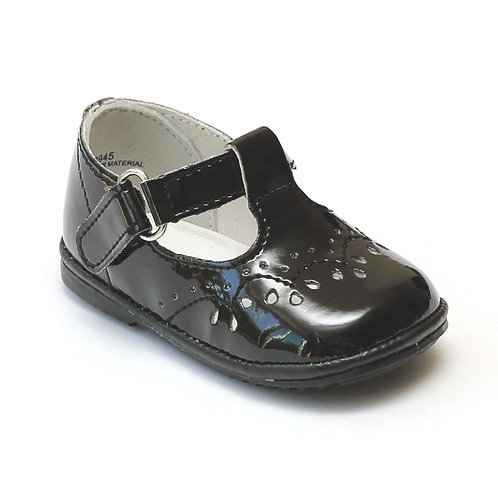 Angel Baby T-Strap Shoe Black Patent