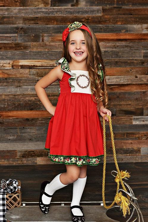 Serendipity Winter Berry Pinafore Dress 19-57