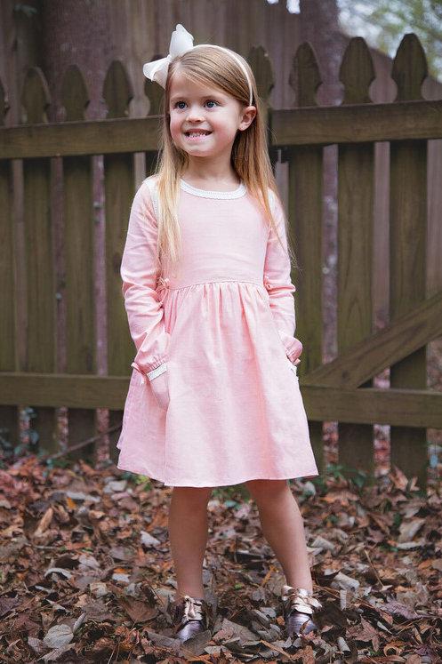 Evie's Closet Linen Dress Peach