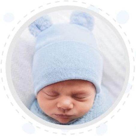 ilybean Blue Bear Fuzzy Ears Beanie