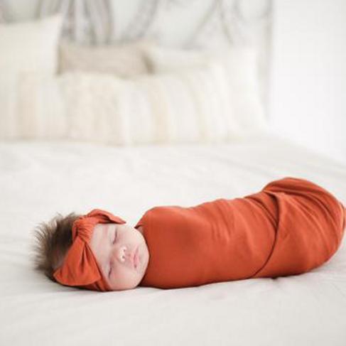 Posh Peanut Infant Swaddle Rust