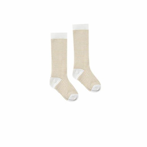 Rylee + Cru Stripe Socks Honey/Ivory