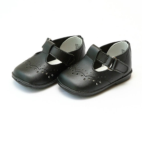 Angel Baby T-Strap Shoe Matte Black