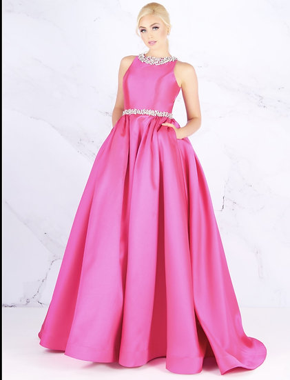 Mac Duggal 66728H Hot Pink