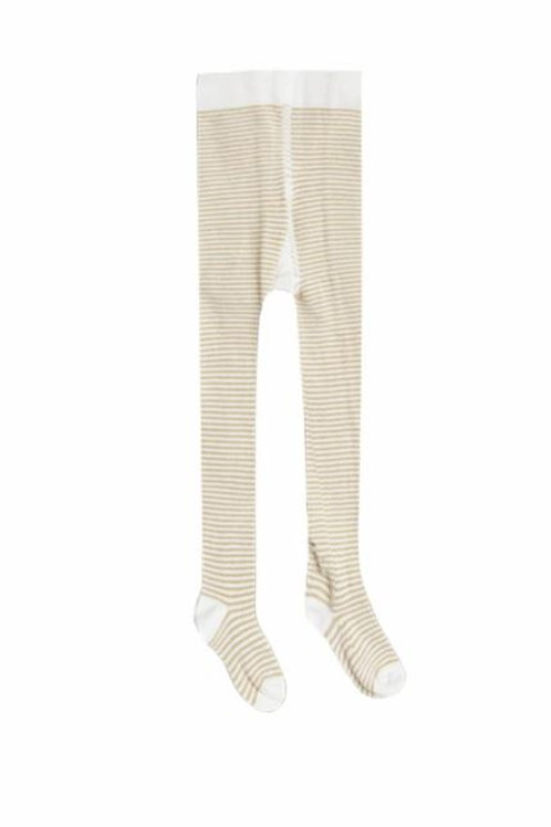 Rylee and Cru Stripe Ribbed Tights Honey