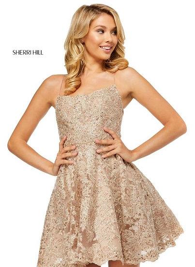 Sherri Hill 52512 Rose Gold/Silver
