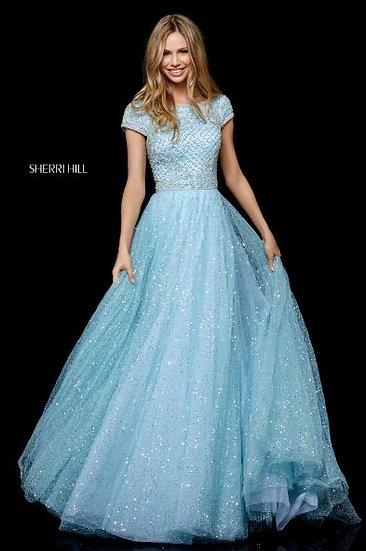 Sherri Hill 52276 Light Blue/Silver