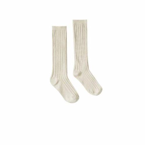 Rylee and Cru Solid Knee Socks Wheat