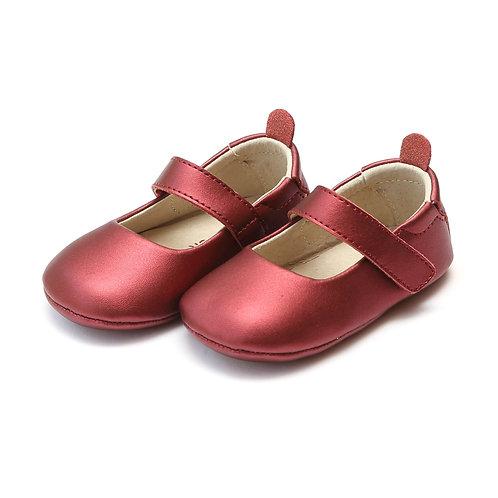 L'amour Classic Crib Mary Jane Metallic Red