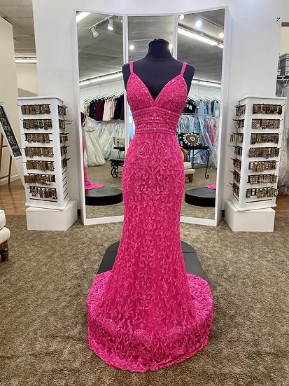 Sherri Hill 54376 Neon Pink