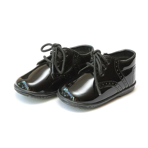 Angel Baby James Leather Laceup Patent Black