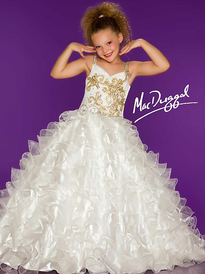 Mac Duggal 42780S White/Gold