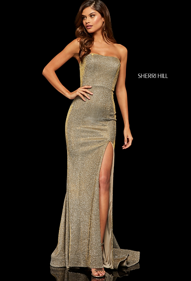 Sherri Hill 52362 Electric Gold