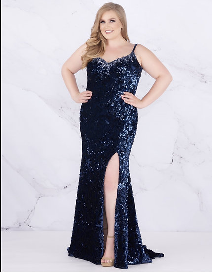 Mac Duggal 77562F Midnight