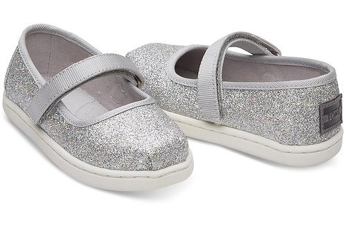 TOMS Silver Iridescent Glimmer Mary Jane