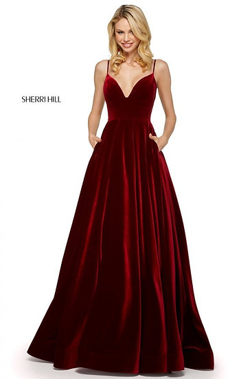 Sherri Hill 53138 Burgundy