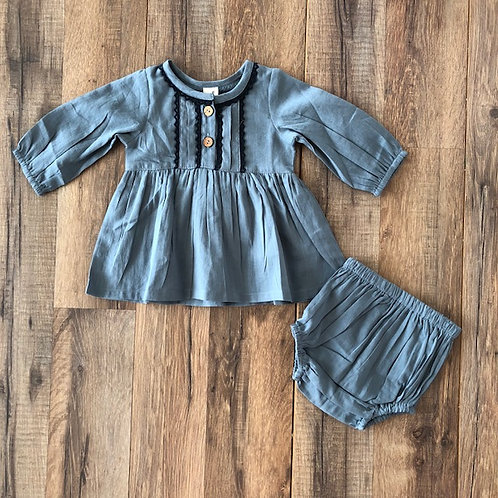 Yo Baby Blue with Navy Trim Set