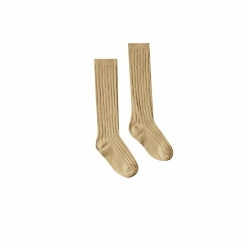 Rylee and Cru Solid Knee Socks Honey