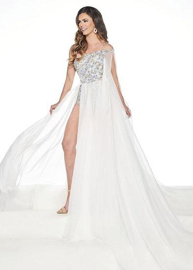 Rachel Allan 5075 White Multi
