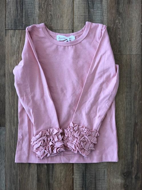 Evie's Closet Ruffle Top Blush