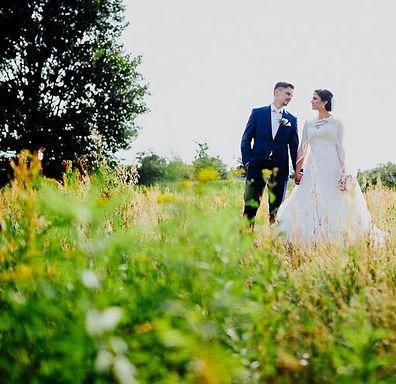 Hochzeitsfotografie, Paarfoto mit modernem Look