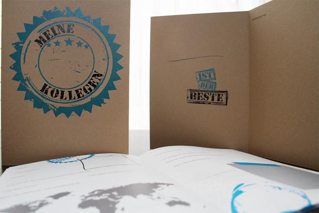 KollegIn-Geschenk, Steckbriefe mit amüsanten, individuellen Fragen