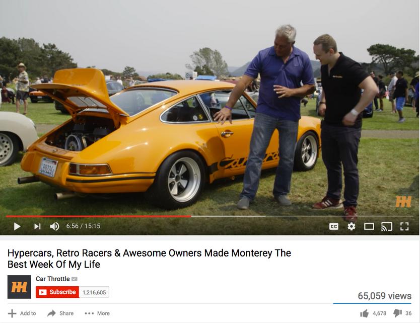 CAR THROTTLE VIDEO, MONTEREY CAR WEEK