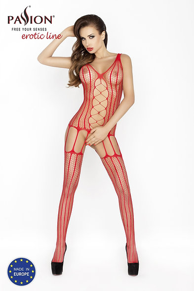 Bs013R Bodystocking - Red