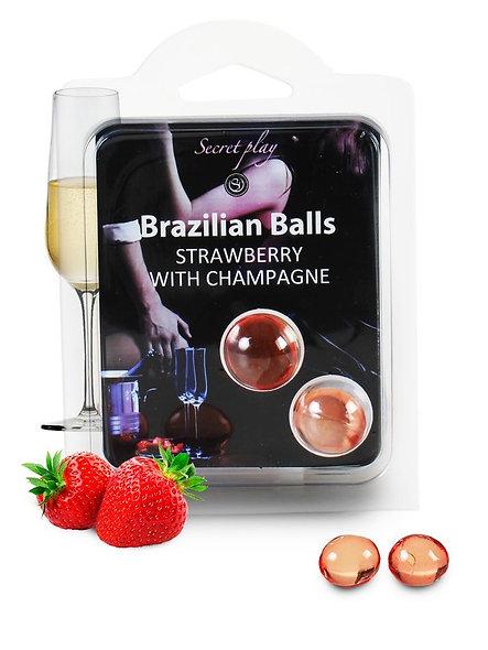 Brazilian Duo Balls Strawberry Champagne 3385-2