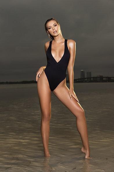 1 Pc Swimsuit Style 6971 - Black