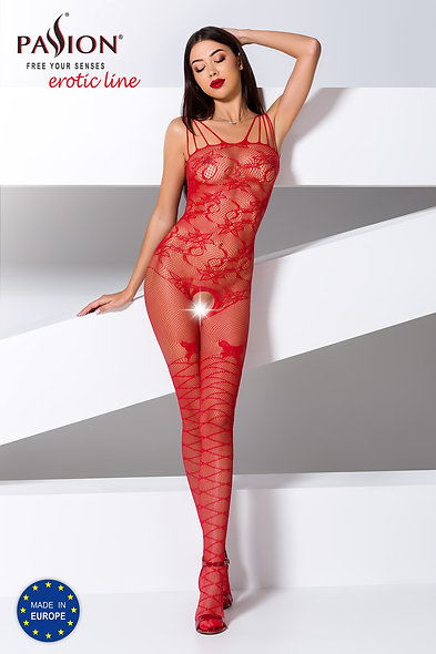 Bs076R Bodystocking - Red