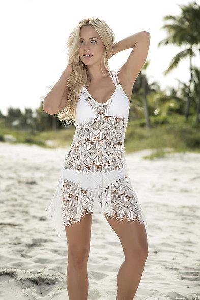 Beach Dress Style 7858 - Ivory