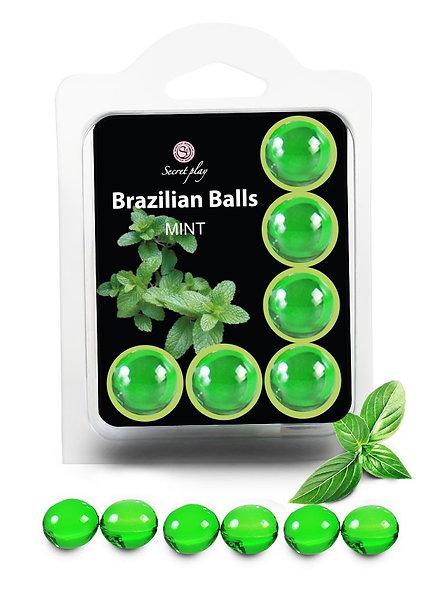 "6 Brazilian Balls ""Mint"" 3386-8"