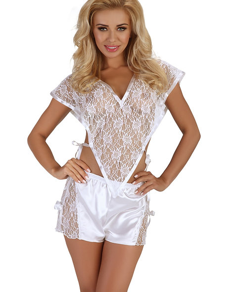 Marceline Top And Shorty - White