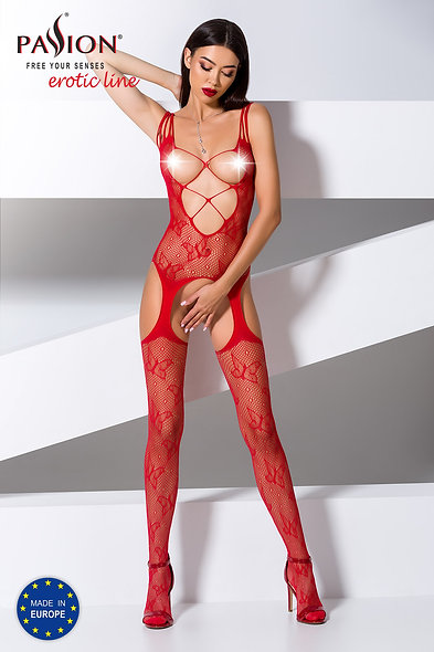 Bs075R Bodystocking - Red